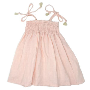 oh baby! Gidget Smocked Woven Dress - Apricot