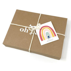 oh baby! Ruffle Heart Gift Box Set - Pale Pink