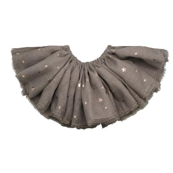oh baby! Fairy Skirt - Printed All Over Stars Rose Gold Foil - Mushroom
