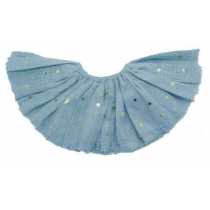 oh baby! Fairy Skirt - Stars in Gold Foil - Misty Blue