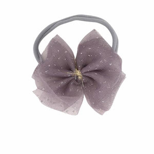oh baby! Glinda Bow Nylon Headband - Dusty Lavender