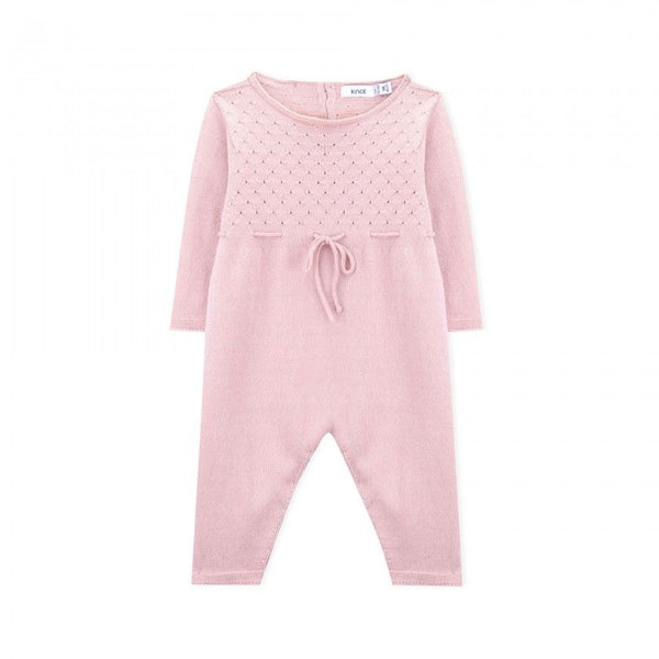 Cashmere Long Sleeve Knitted Romper - Pink