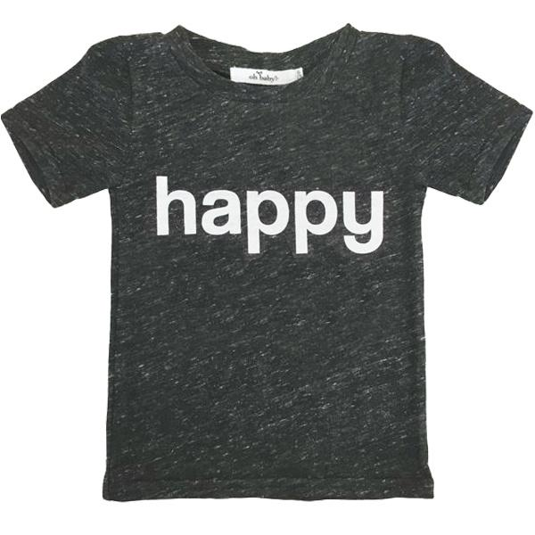 oh baby! Happy Tee - Short Sleeve Pepper