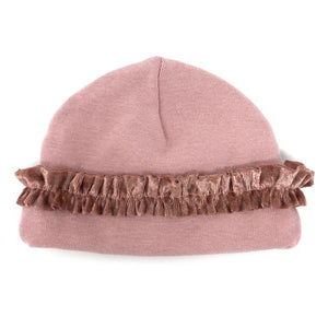 oh baby! Ruffled Two Piece Set Hat - Blush with Clay Velvet