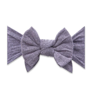 Dang Enormous Bow Headband- Heather Blossom