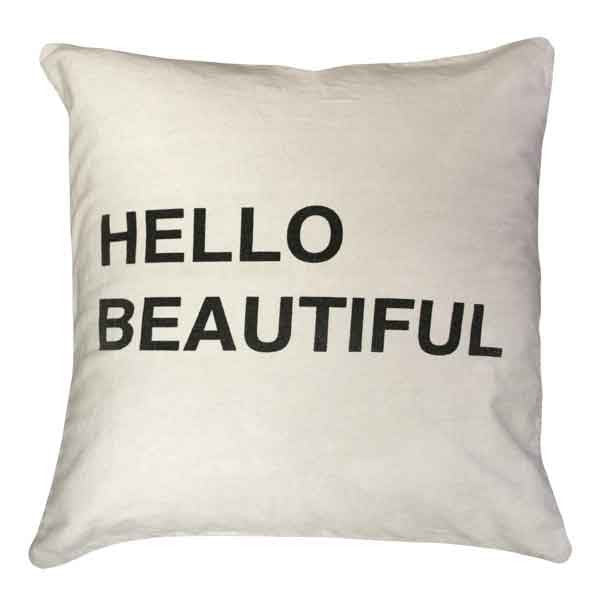 Sugarboo Designs Hello Beautiful Pillow - oh baby!