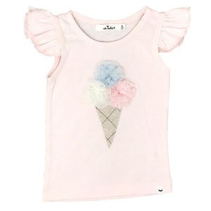 oh baby! Flutter Tank - Triple Scoop Glinda Ice Cream Cone - Pale Pink