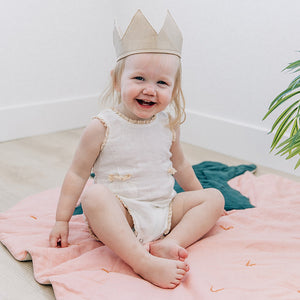 oh baby! Metallic Linen Crown - Gold