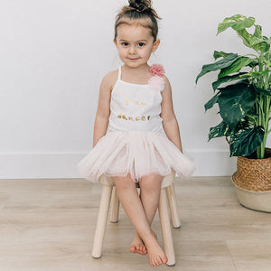 oh baby! Glinda Pom Ballet Tank, Tiny Dancer - Cream