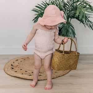 oh baby! Gidget Sunsuit One Piece - Apricot Linen