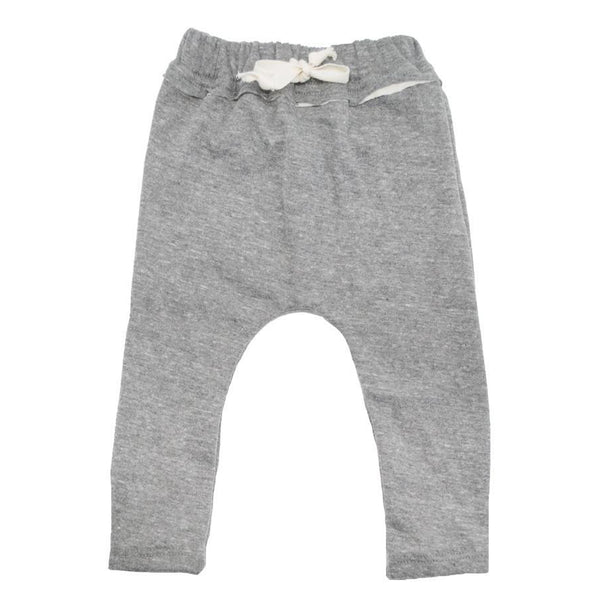 oh baby! Double Knit Jogger - Heather Gray/Cream