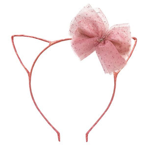 oh baby! Kitty Headband Rose Gold - Blush Bow