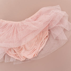 oh baby! Glinda Tushie Diaper Cover - Blush/Blush - Dusty Pink