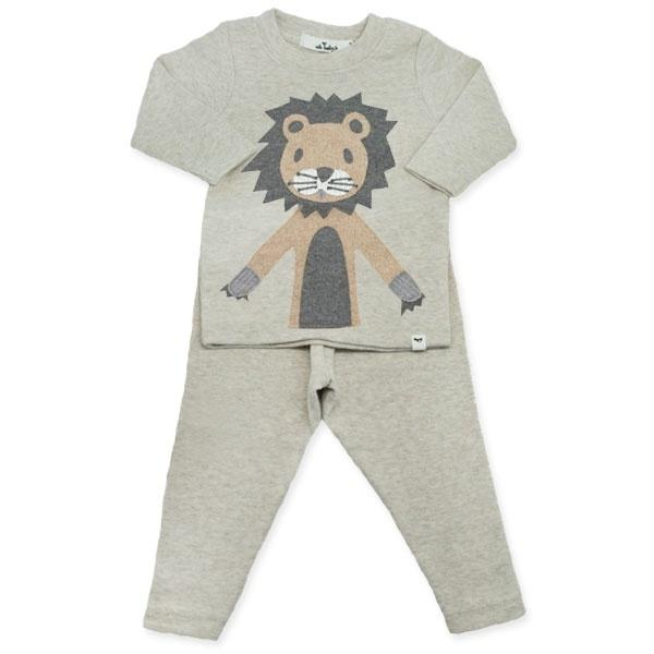 oh baby! Two Piece Set - Leo Lion in Tan - Sand