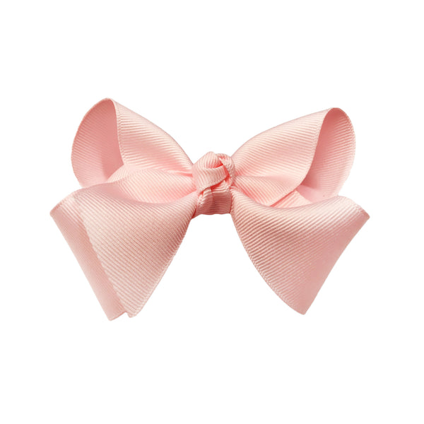 oh baby! Grosgrain Large Ribbon Bow Hair Clip - Light Pink - oh baby!