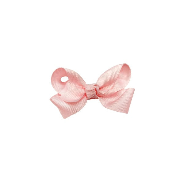 oh baby! Grosgrain Small Ribbon Bow Hair Clip - Light Pink - oh baby!