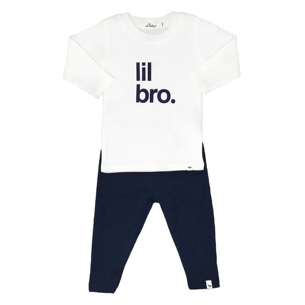 oh baby! Two Piece Set - Lil Bro Navy Ink Mixed - Navy