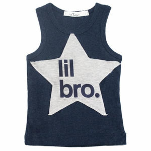 "oh baby! Tank Top - ""lil bro"" Star - Navy"