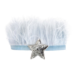 oh baby! Lily Crown Powder Blue - Silver Sequin Star
