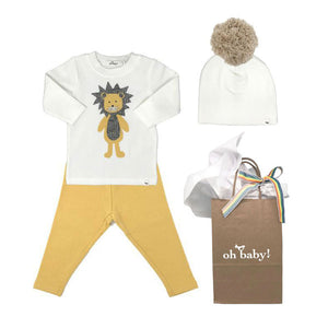 oh baby! Ragdoll Lion Gift Set - Maize
