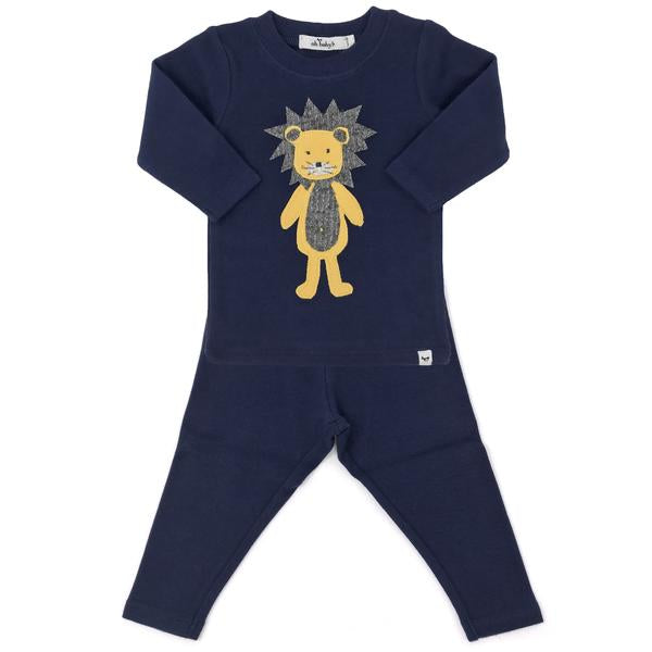 oh baby! Two Piece Set - Ragdoll Lion Maize - Navy