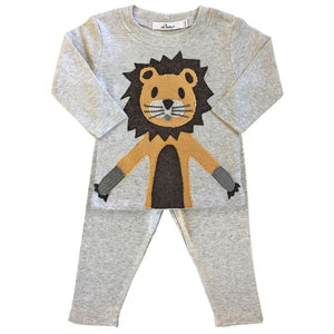 oh baby! Two Piece Set - Lion - Oatmeal