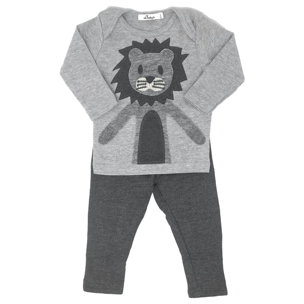 oh baby! Two Piece Set - Hazy Lion - Gray