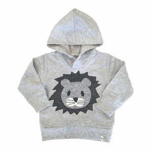 oh baby! Pullover Hoodie - Hazy Lion Face - Oatmeal Heather