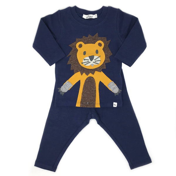 oh baby! Two Piece Set - Lion - Navy
