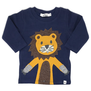 oh baby! Long Sleeve Top - Lion - Navy Heather