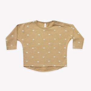 Quincy Mae - Organic Long Sleeve Brushed Jersey Tee - Honey