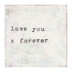 Sugarboo Love You X Forever Small Art Print
