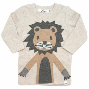 oh baby! Long Sleeve Tee - Leo Lion in Tan - Sand