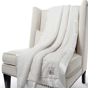 Little Giraffe Luxe Faux Fur Throw Blanket - Cream - oh baby!