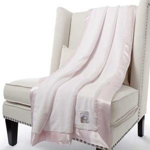 Little Giraffe Luxe Faux Fur Throw Blanket - Pink - oh baby!