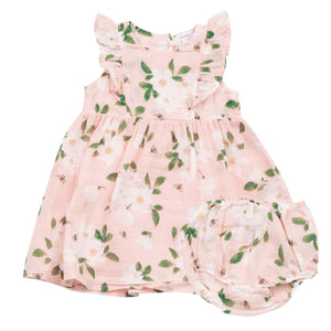 Angel Dear Magnolias Ruffle Dress