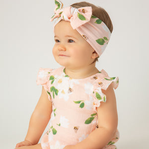 Angel Dear Magnolias Sunsuit