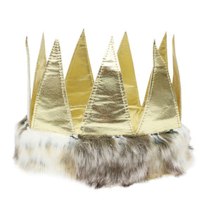 oh baby! Max Crown - Metallic Gold with Fur