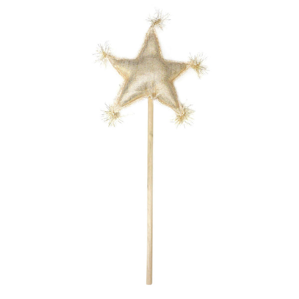 oh baby! Metallic Linen Star Wand - Gold