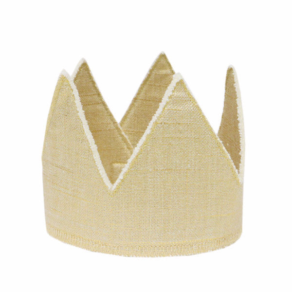 oh baby! Metallic Linen Crown - Gold - oh baby!