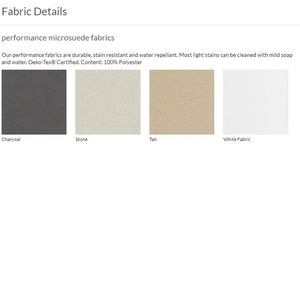 MONTE Dorma Bed - Performance Microsuede Fabrics - oh baby!