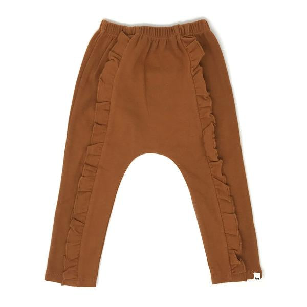 oh baby! Millie Ruffle Front Pant - Rust