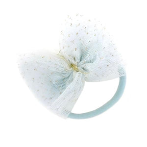 oh baby! Glinda Bow Nylon Headband - Powder Blue