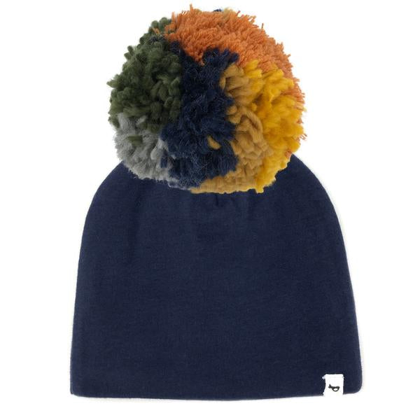 oh baby! Snap Pom Hat Autumn Mix - Navy