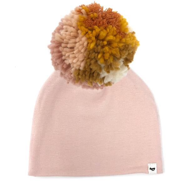 oh baby! Snap Pom Hat Blush Mix - Pale Pink