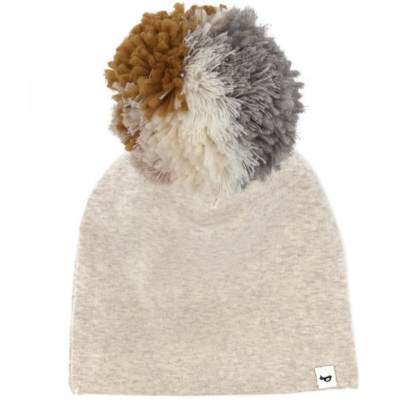 oh baby! Snap Pom Hat Neutral Mix - Sand