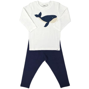 oh baby! Two Piece Set - Moby Whale Mixed - Navy