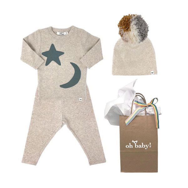 oh baby! Moon and Star Gift Set - Sand