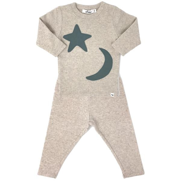 oh baby! Two Piece Set - Star and Moon - Sand