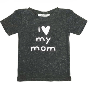 oh baby! Short Sleeve James Dean Tee - I <3 my mom - Pepper